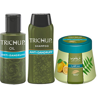 Trichup Scalp Nourishment Kit (Anti-Dandruff Oil (100ml), Anti-Dandruff Shampoo (200ml), Anti-Dandruff Cream 200ml) (PAC