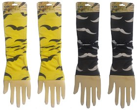 Wearable Tattoo Arm sleeves Skin Cover for Sun protection (Moustache Design Combo)
