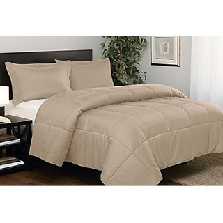 South Bay Microfiber Down Alternative Comforter Set, Full/Queen, Taupe
