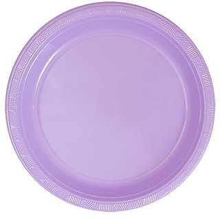 Hanna K. Signature Collection 50 Count Plastic Plate, 7-Inch, Hydrangea