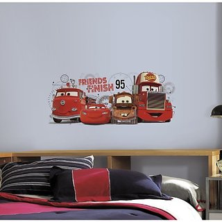 RoomMates RMK2556GM Cars 2 Friends to The Finish Peel and Stick Giant Wall Decals