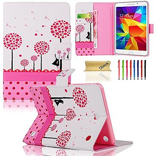 Galaxy Tab A 8.0 T350 Case,Dteck(TM) Colorful Dandelion Design PU Leather Flip Folio Stand Case Cover[Auto Sleep/Wake Fe