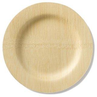 Bambu 11-Inch Round Veneerware Plates, Package of 25