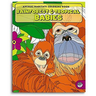 Rain Forest & Tropical Babies Coloring Book