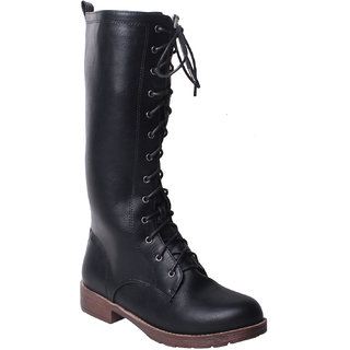 MSC-CALF LENGTH BLACK BOOTS (MSC-RR76-212-BLACK BOOTS)