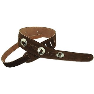 Perris Leathers P25SCH2-201 2.5-Inch Soft Suede Guitar Strap with Conchos