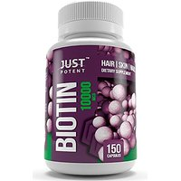 Biotin Supplement By Just Potent :: 10,000 MCG :: Hair