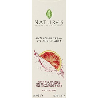 Natures Anti-Aging Cream for Eyes and Lips, 0.5 Ounce