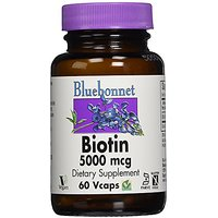 Bluebonnet Biotin 5000 Mcg Vegetable Capsules, 60 Count