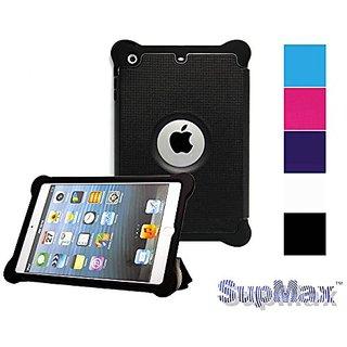 SUPMAX Guard Series Dual Layer Silk Leather Case Auto Wake Up/Sleep for Apple iPad Mini 1/2/3 with Stand(Black)