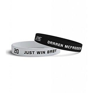 Darren McFadden Official Store Mens Oakland Wristbands (2 Pack) Black and Grey