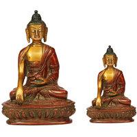 14cm Big Buddha Samadhi Idol With Small 10cm Idol, Combo Pack Of 2, For Positive Energy, Fengshui