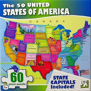 Buy United States of America (USA) Map - 60 Piece Jigsaw Puzzle ...