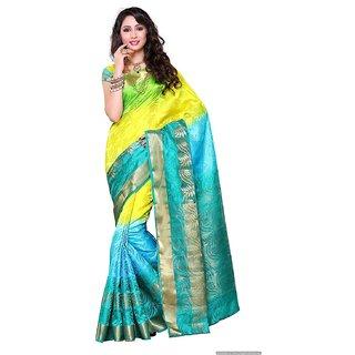45c84f4eac5b8 Buy Pure Silk Katan Saree Online   ₹12000 from ShopClues