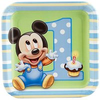 Mickey Mouse 1St Birthday - Birthday Boy Dessert Plates