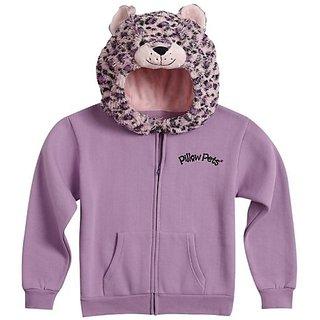 Pillow Pets Authentic Pink Leopard, Sweatshirt- Large