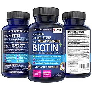 BIOTIN + Premium Hair, Skin & Nail Boost With Extra Cal