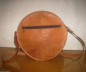 Women Lady Leather Round shape Crossbody Shoulder Bag handbag Satchel Purse Tote