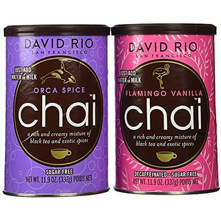 David Rio Chai Mix - Sugar Free 2 Caniser Variety Pack - 11.9 Oz