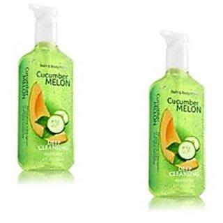 Bath & Body Works Cucumber Melon Deep Cleansing Hand Soap 8 OZ Bottle (2 Pack)