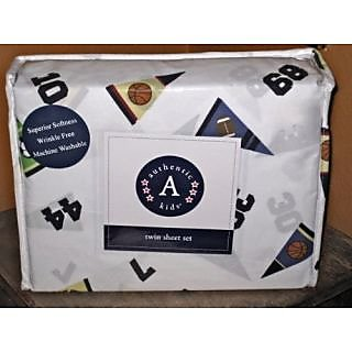 Authentic Kids Sports Twin Sheet Set