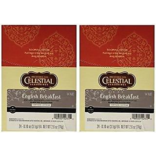 Celestial Seasonings English Breakfast Black Tea K - Cup 48 Count Case For Keurig Brewers