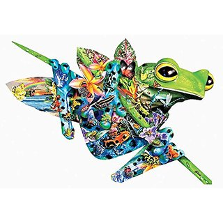 Paradise Frogs a 1000-Piece Jigsaw Puzzle by Sunsout Inc.