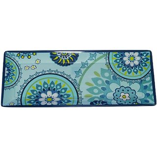 Certified International Rectangular Tray, 19-Inch by 8-Inch, Capri Blue