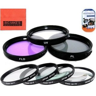 67mm Multi-Coated 7 Piece Filter Set Includes 3 PC Filter Kit (UV-CPL-FLD-) And 4 PC Close Up Filter Set (+1+2+4+10) For