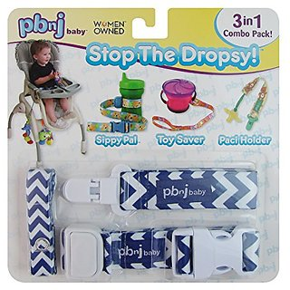 Stop the Dropsy 3-in-1 Combo Pack (Blue & White Chevron)