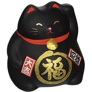 1 X Happy Cat, Maneki Neko Blk