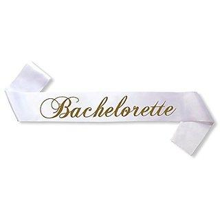 Bachelorette Satin Sash - Bachelorette Party favors ,bridal shower Party Accessory - white