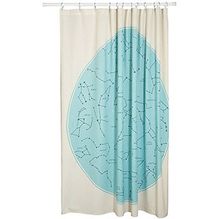 Danica Studio Cotton Shower Curtain Galaxy Constellation Print