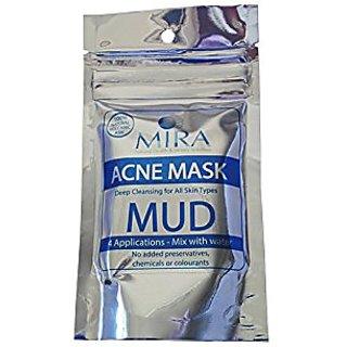 Mira Dynamics 100% Natural Volcanic Ash Face And Body Masks - 50G Packet Provides 4 Applications - All Natural Formulas