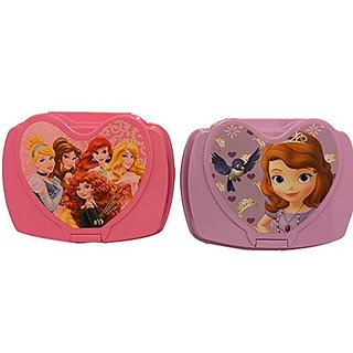Set of 2 - Kids Lunch Boxes - Disney Princesses and Sofia the First