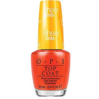 OPI Sheer Tint Topcoat, Im Never Amberrassed, 0.5 Ounce