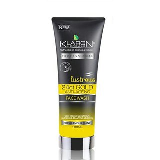 Klaron Herbals  24CT Gold Lustrousglow Face wash (100 ml)