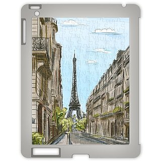Pintoo - Y1001 - Puzzle Case For Ipad - Street In Paris, France - 100 Piece Plastic Puzzle