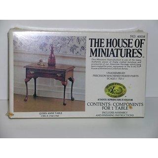 Dollhouse Miniature Queen Anne Table Kit