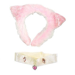 WeGlow International Pink Cat Headband with Necklace (Set of 8)