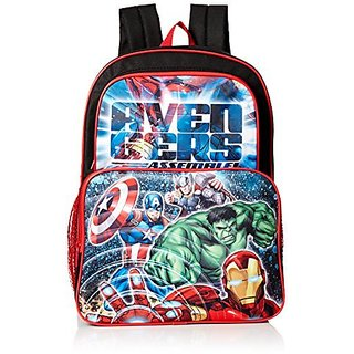 Marvel Boys Avengers 16 inch Cargo Backpack, Black