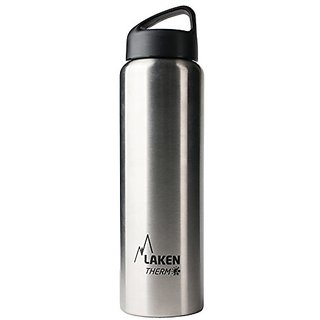 Laken Thermo Classic Vacuum Insulated Stainless Steel Water Bottle Wide Mouth - 34 oz, Plain