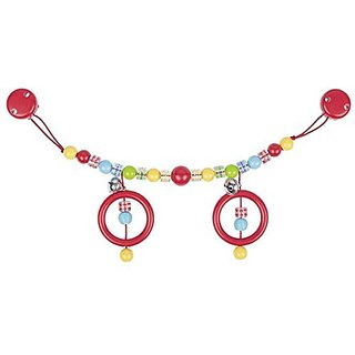 Goki Colored Spotted Beads Pram Chain