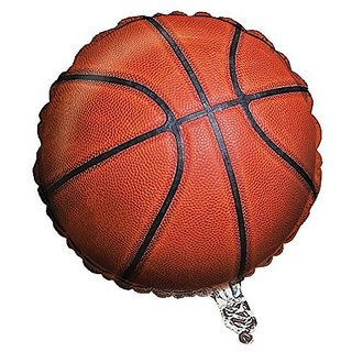 Creative Converting Sports Fanatic Basketball Metallic Balloon, Orange