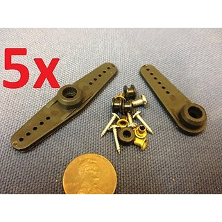 5 Sets of - Rc Servo Steering ARM Set Fit Futaba Mg995 Mg996 Mg945 Standard C7