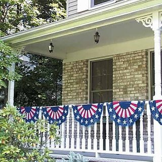 Amscan Stars & Stripes Fourth of July Party Bunting Banner Decoration (1 Piece), Multi Color, 11 x 16