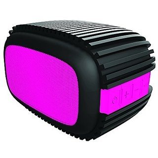 Sharper Image SBT617BKPK Rugged Outdoor Bluetooth Speaker 4.0, Splash-Proof & Shockproof, (Black/Pink)