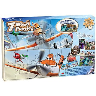 Disney Boys Real Wood Puzzles 7 pack (Styles May Vary)