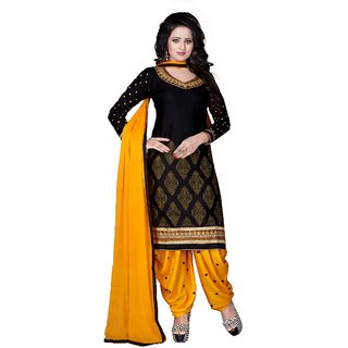 Womens Embroidered un-stitched Dress Material In Cotton Fabric
