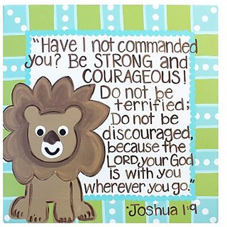 Buy Be Strong And Courageous Bible Verse Kids Decor Canvas Wall Art